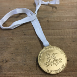 Médaille en Acrylique peint Ø 55 x 8 mm