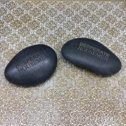 Galet noir zen personnalisable,(Gravure seule).