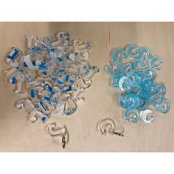 Lot de 200 porte-clés plexiglas 6 mm de 3 x 3 cm (lettres de A à Z) à monter soi-même.