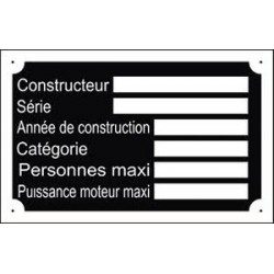 Plaque à vos dimensions (faites nous la demande par mail).