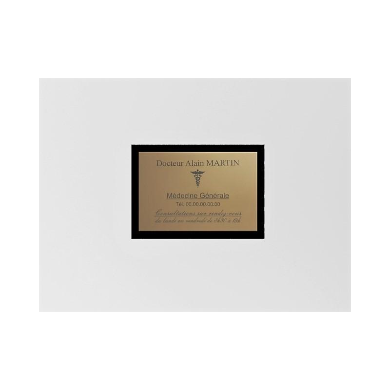 Support de plaque en mélaminé noir (pour 1 plaque 30 x 20 cm).