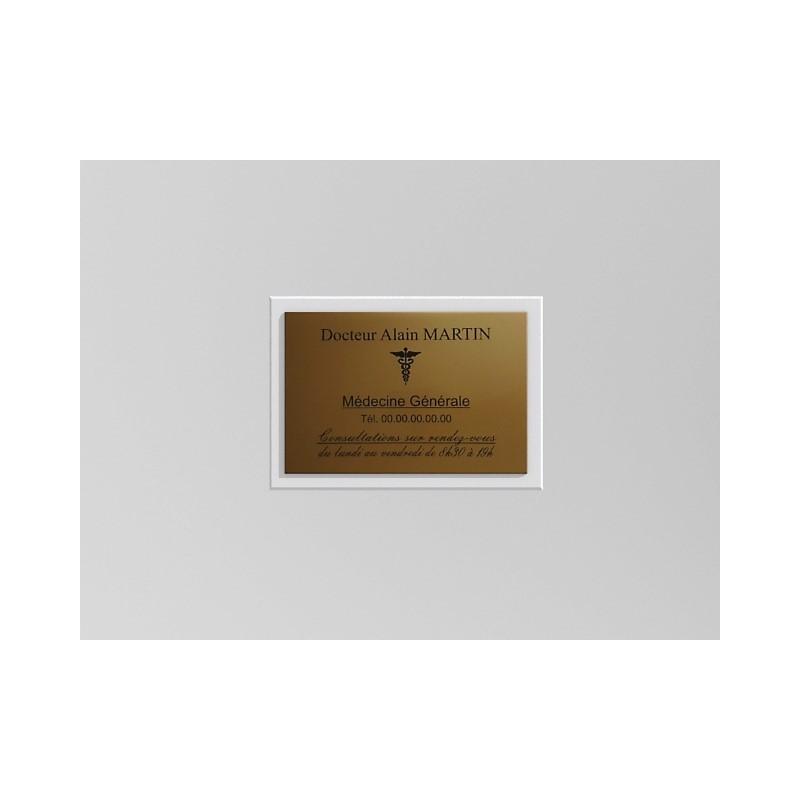 Support de plaque en mélaminé blanc (pour 1 plaque 30 x 20 cm).