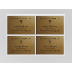 Support de plaque en mélaminé blanc  (pour 4 plaques 30 x 20 cm).