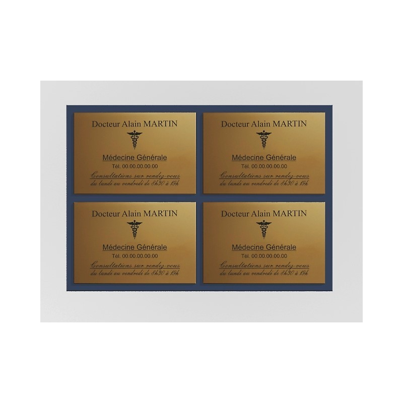 Support de plaque en mélaminé bleu nuit (pour 4 plaques 30 x 20 cm).