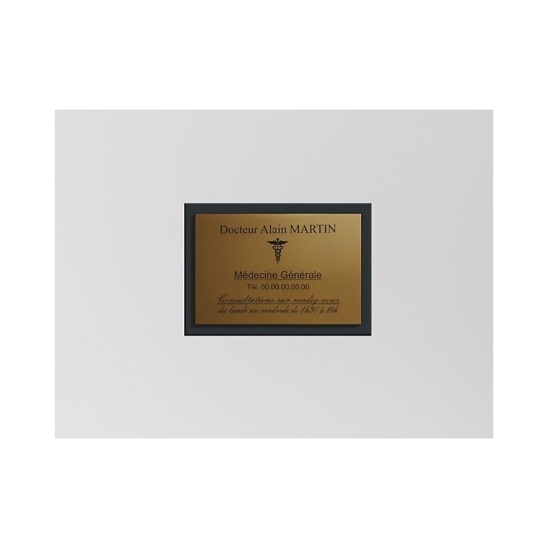 Support de plaque en mélaminé gris acier (pour 1 plaque 30 x 20 cm).