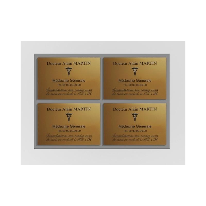 Support de plaque en mélaminé gris (pour 4 plaques 30 x 20 cm).