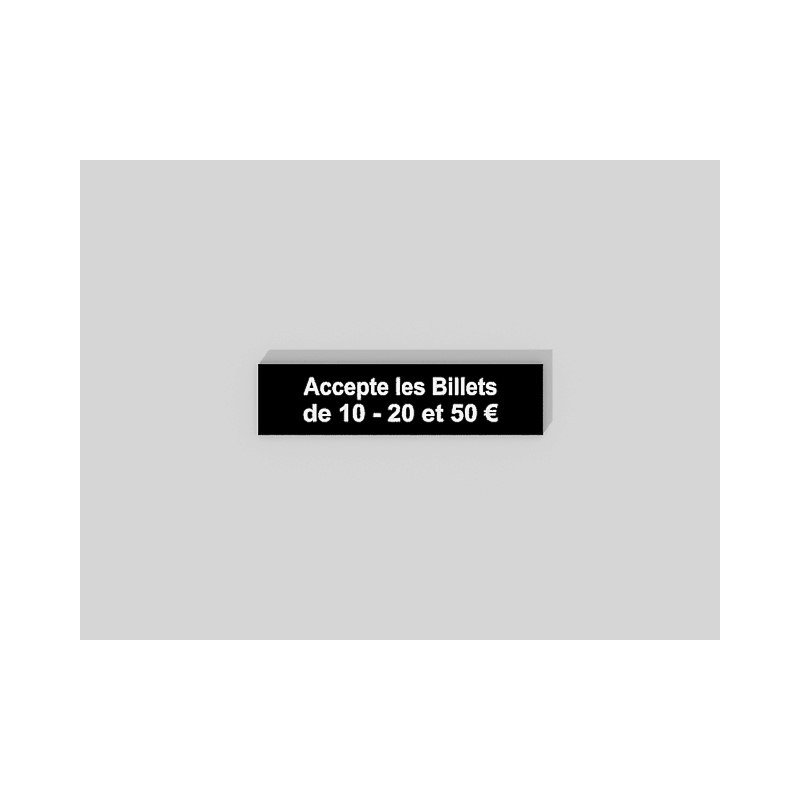 Acrylique bicouche, noir / blanc.