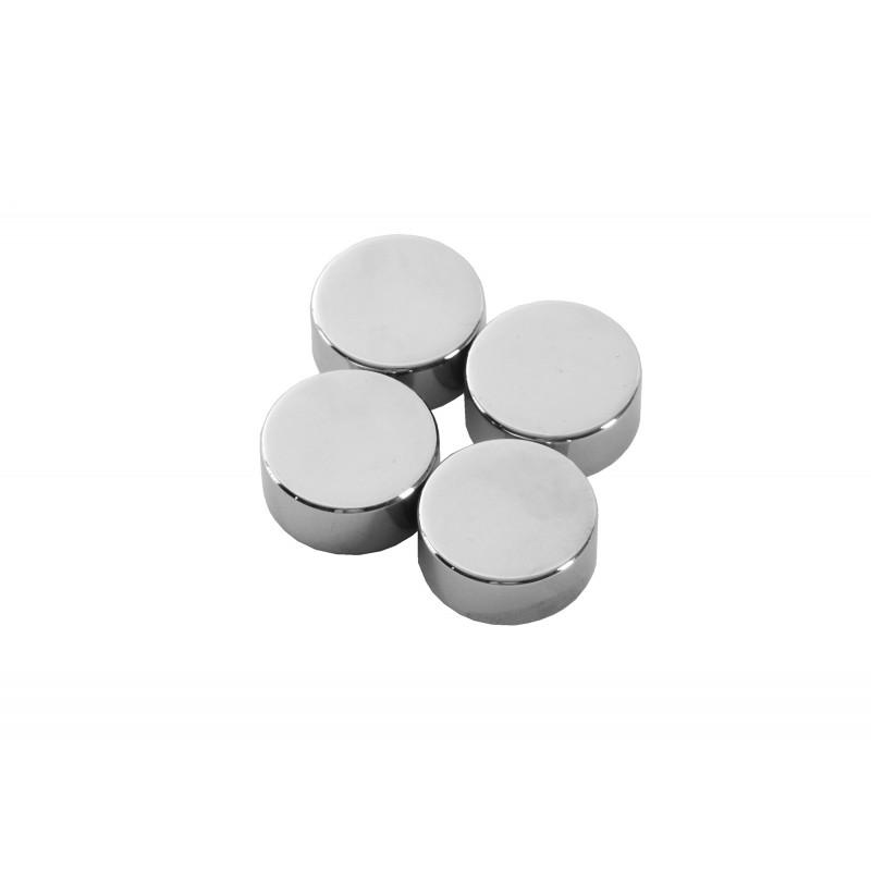 Cache vis plat Ø 20 mm. Matériau: laiton chromé