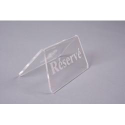 Triangle réservé en acrylique 3 mm incolore, personnalisable